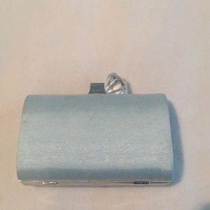 Ted Baker Light Blue Framed Clutch Bag - Flaws